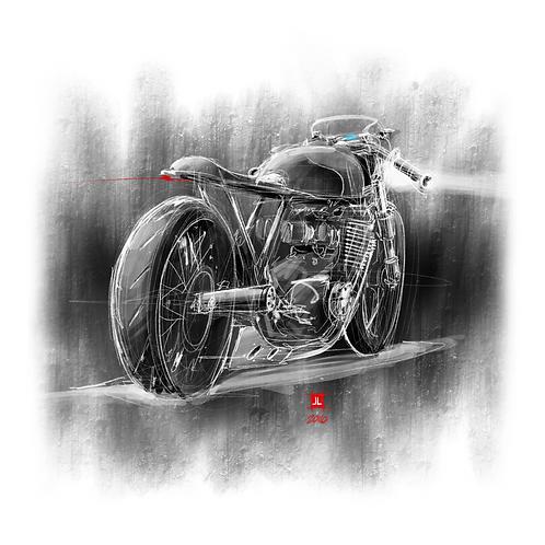 "12"" x 12"" Cafe Racer Print"