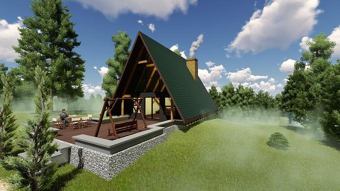 Vaulted Timber Frame Cabin