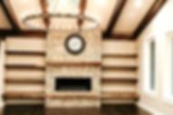 Living space timber frame box beams