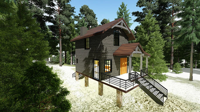 Rustic Mountain Back Country Cabin
