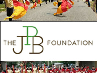 THE JPB FOUNDATION awards a $10,000 grant to the Crimson Kings Drum Fife & Bugle Corps under the