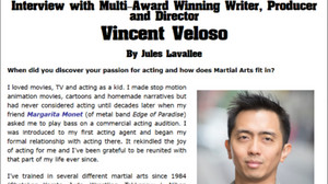 Celebrity writer Jules Lavellee of myindieproductions, Melbourne Australia interviews Vincent Veloso