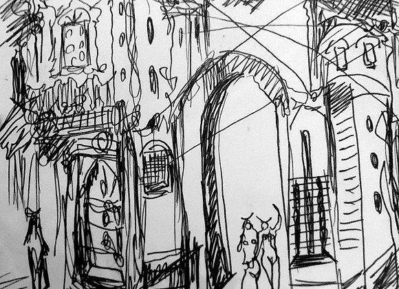 Cityscape I - Ink