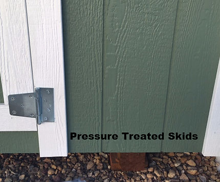 Ted's Sheds have Pressure Treated Skids