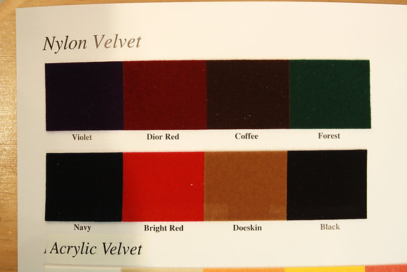Nylon Velvet Color Card