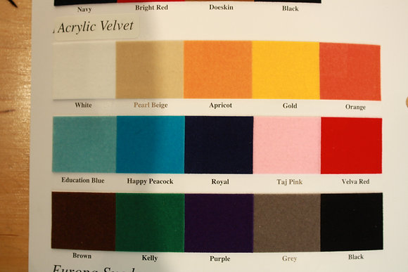 Acrylic Velvet Color Card