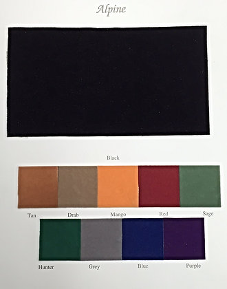 Alpine Velvet Color Card