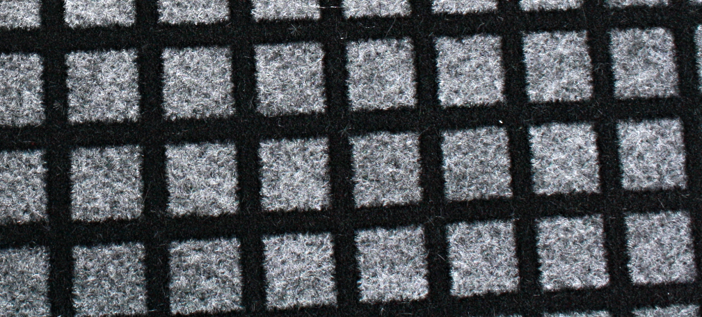 black grid on foam
