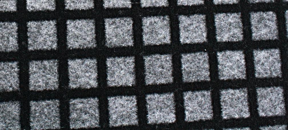 black grid on foam