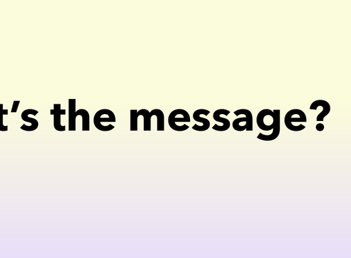 Daniel George Ruginets: What's the message?