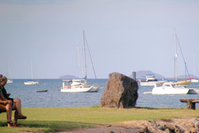 Double Cone Islands in the backfrom from Airlie Beach