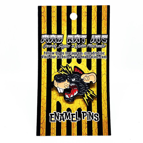 Enamel Pin (Psycho Rat Head)