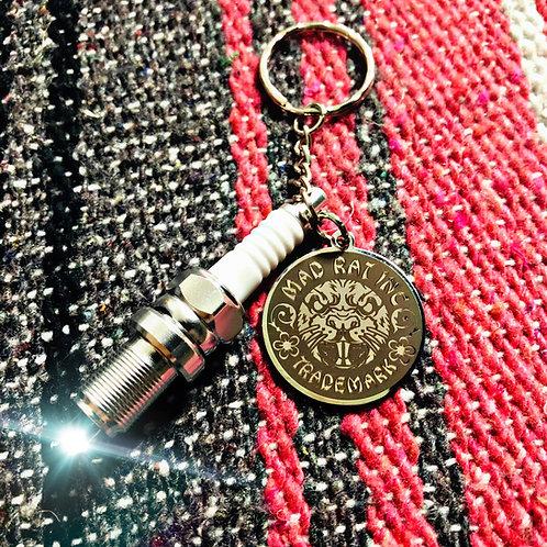 Novelty Sparkplug Keychain