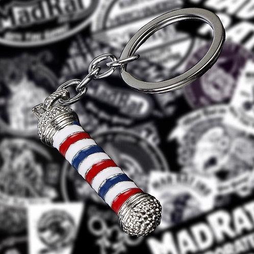 Barber Pole Keychain