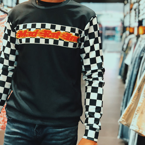 Long Sleeve Sweatshirt (Checkerboard)