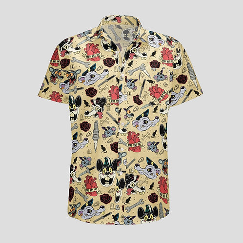 Full Print Workshirt (Yellow Tattoo)