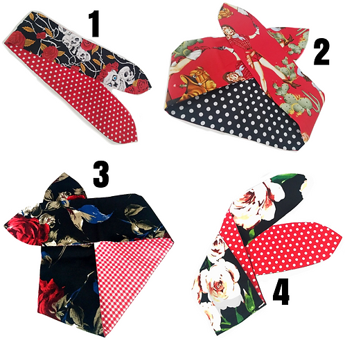 Pin Up Scarf (Reversible)