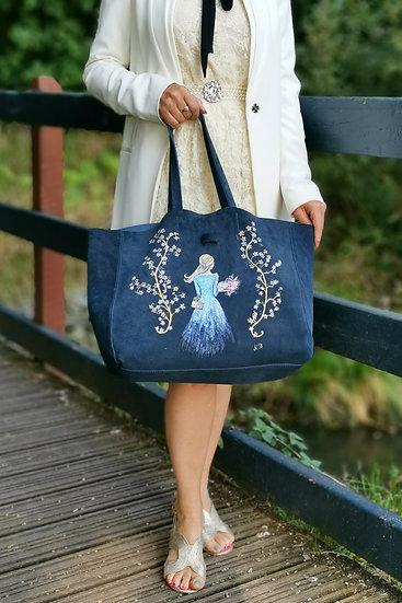 Alessandro Mari Custom Design Genuine Suede Handbag