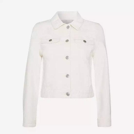 Red Herring - Crem Cotton-Blend Cropped Denim Jacket (Custom Design Options)