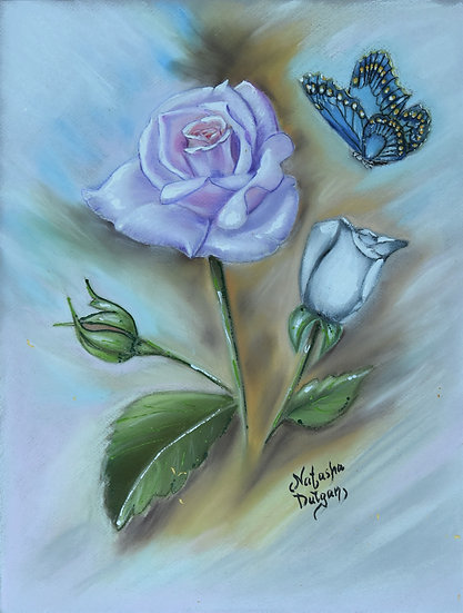Vintage Rose and Butterfly