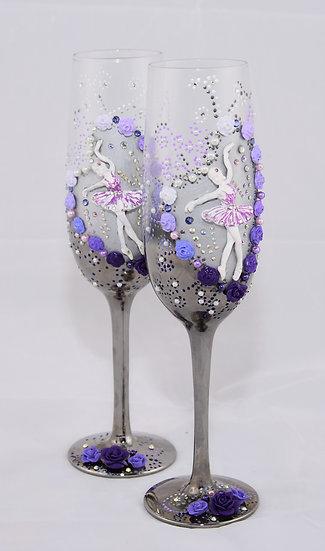 Ballerina Champagne Flute (x2)