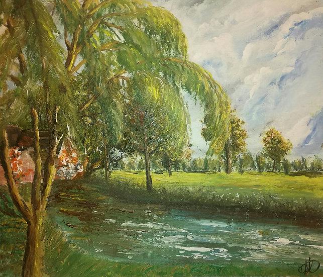 English Countryside (The Hay Wain - John Constable inspired)