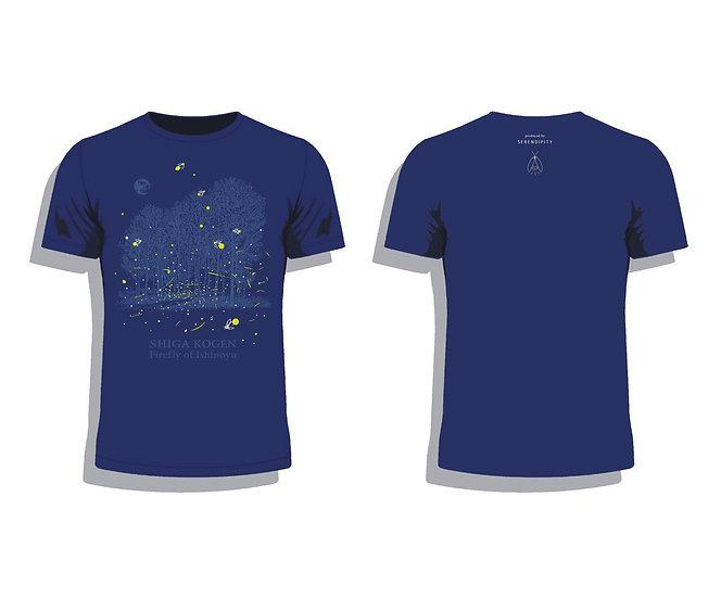 蛍Tシャツ(ネイビー)