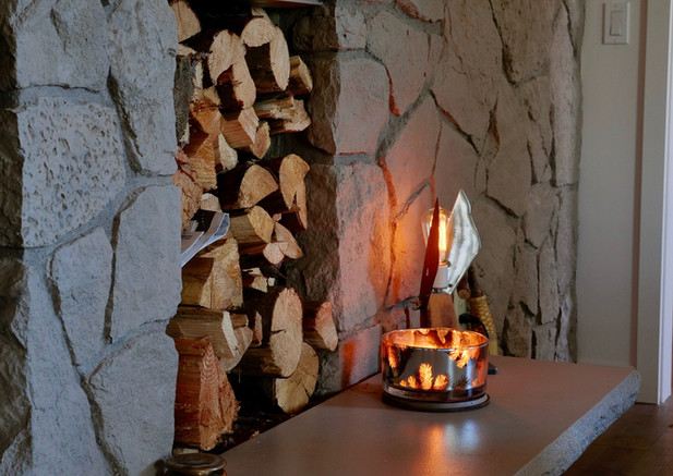 Mid century Modern Firewood Storage