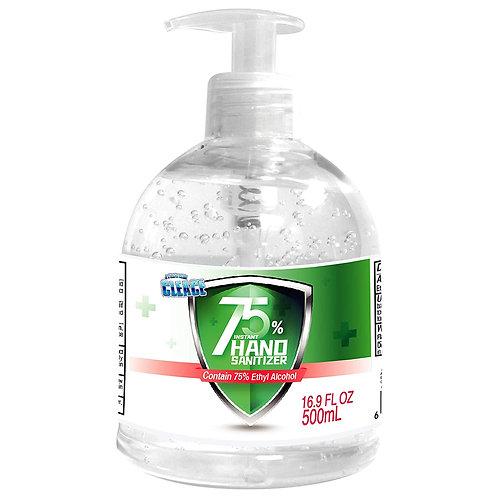 1 Bottle 16.9oz Aogrand 75% Alcohol Hand Sanitizer Gel