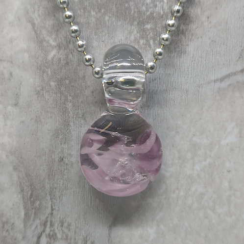 Purple Disk Shaped Glass Pendant