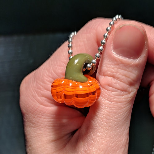 Orange Glass Pumpkin Pendant