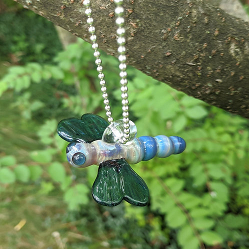 Hanging Glass Dragonfly Figurine