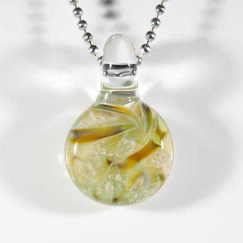 (Members) Green Disk Memorial Glass Pendant