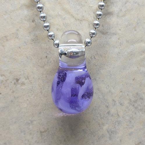 Purple Teardrop Shaped Glass Pendant
