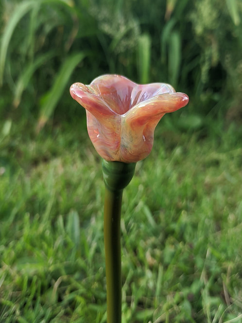 Pink Glass Flower
