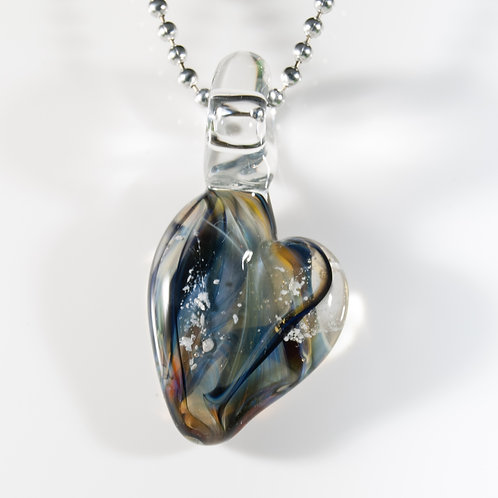(Members) Black Heart Memorial Glass Pendant