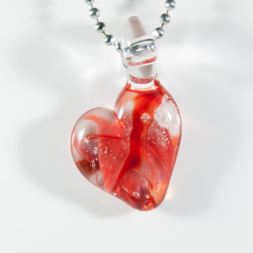 (Members) Red Heart Memorial Glass Pendant