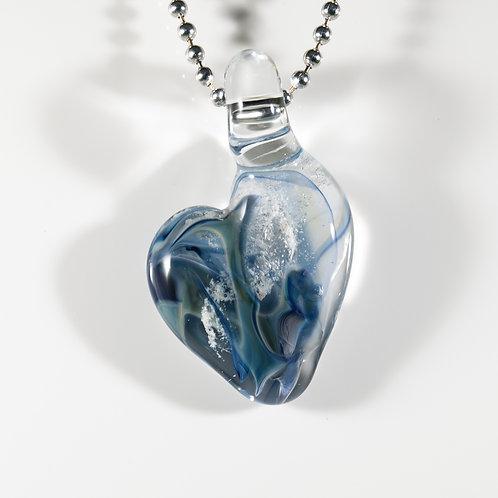 (Members) Blue Heart Memorial Glass Pendant