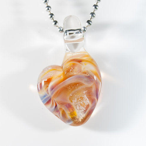 (Members) Purple Heart Memorial Glass Pendant