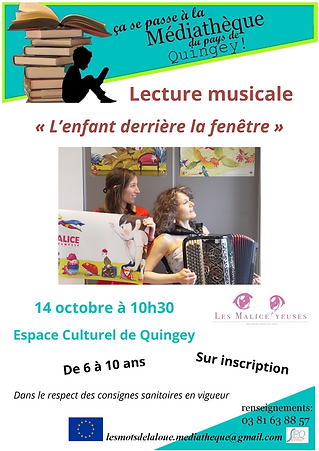 Affiche lecture musicale Malice'Yeuses.p
