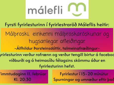 Fyrirlestur: Einkenni málþroskaröskunar og hugsanlegar afleiðingar.