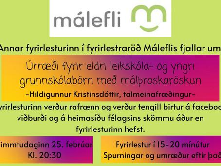 Fyrirlestur: Úrræði fyrir börn í leik- og grunnskóla