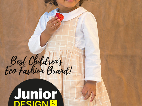 """NAPAANI wins Gold as """"Best Children's Eco Fashion Brand!!!"""
