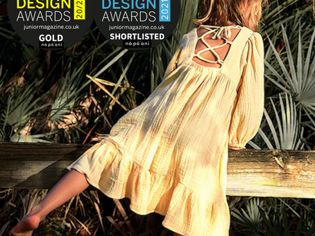"""NAPAANI ORGANIC shortlisted as """"Best Children ECO Fashion Collection 21/22"""" by Junior Design Awards"""