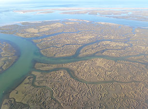 Aerial image of the lagoon of Ria Formos