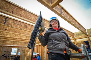 Featured Volunteer: Mary furthers Flatirons Habitat's mission on the build site