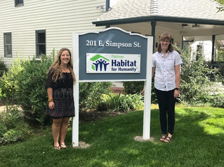 Taylor and Chloe, AmeriCorps members, join our construction team for a year of service