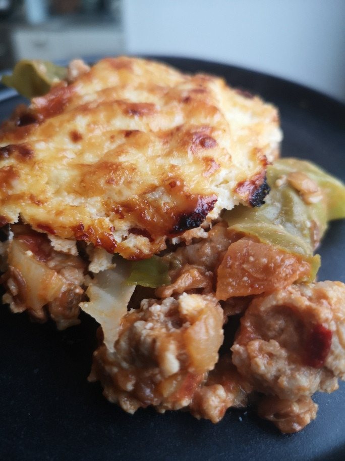 Sausage Fennel and Cabbage Lasagne