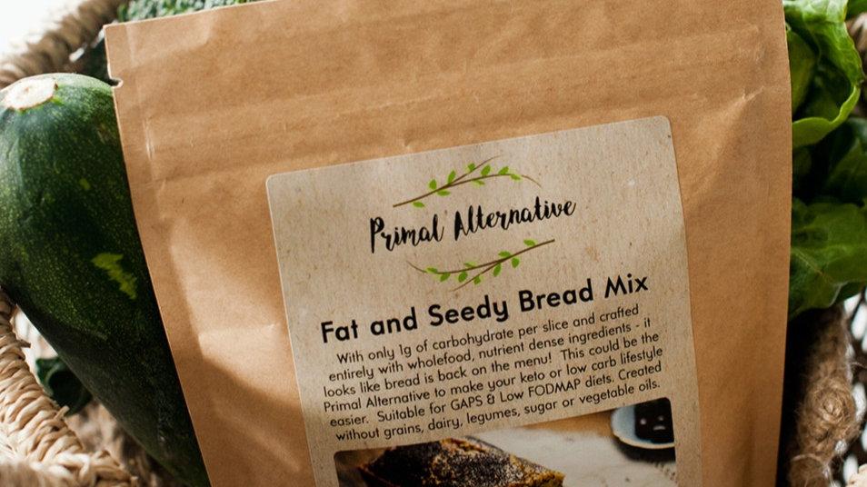 keto bread mix packet in a wicker basket <img>