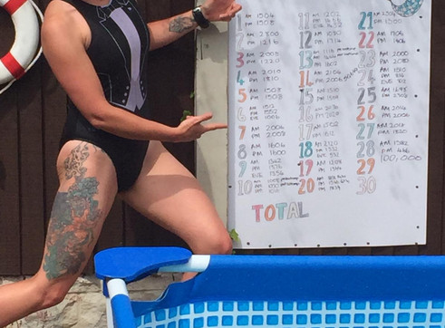 Update:  Shelby Completes Her Swim Challenge!